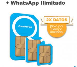 FreedomPop te ofrece WhatsApp gratis e ilimitados