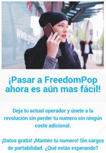 Por fin es posible portar tu línea a Freedompop