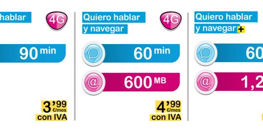 Oferta de tarifas de contrato Suop 4G