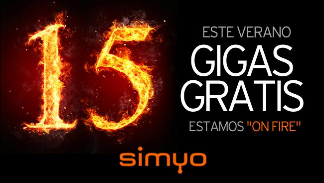 Simyo oferta 15 gigas gratis a sus clientes en verano de 2018