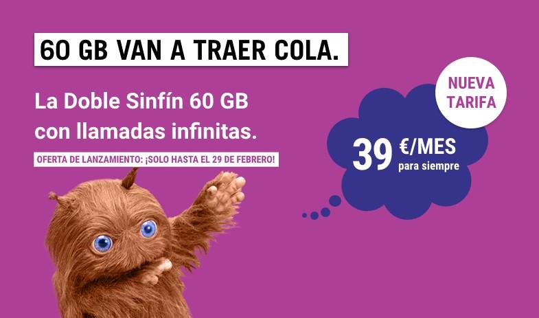 Descubre la Doble Sinfín 60 GB, la nueva tarifa de Yoigo para dos líneas